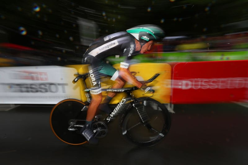 Pawel Poljanski of Poland and team Bora-Hansgrohe competes during stage 1 of Le Tour de France 2017, a 14-kilometer individual time trial on July 1, 2017, in Duesseldorf, Germany. (Chris Graythen/Getty Images)