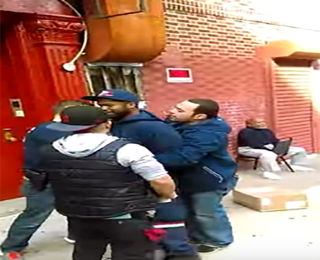Glen Grays being arrested by New York City police officers March 17, 2016YouTube screenshot