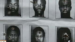 Six mug shots that were used as target practice by a North Miami Beach Police Department sniper teamNBC Miami