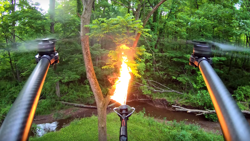 The Flame-Throwing Drone Attachment of Your Nightmares Is