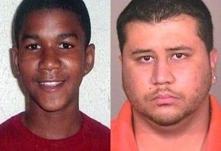 Trayvon Martin; George Zimmerman (MSNBC)