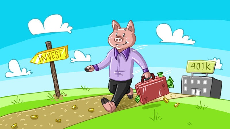 Illustration for article titled Should I Put Money into My Employer's 401(k) or Invest on My Own?