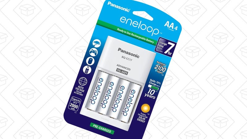 Eneloop AA 4-Pack with Charger, $15