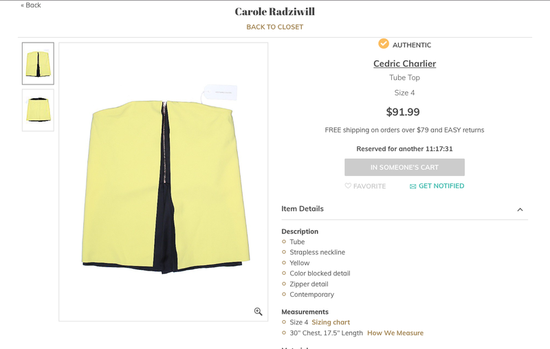 Illustration for article titled Haunted? Rat Die in It? Why Is Carole Radziwill Selling This Great Tube Top?