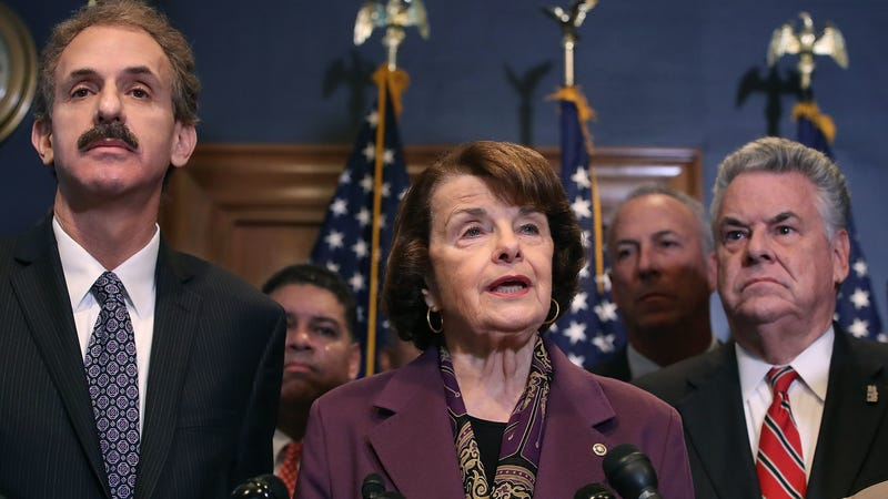 California senator Dianne Feinstein, middle, has gone after phthalates before. Now she wants to get rid of them in food packaging.