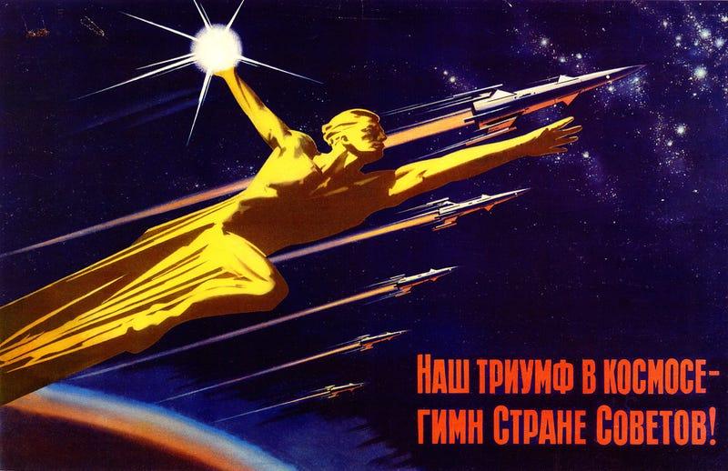 Propaganda soviética de la carrera espacial