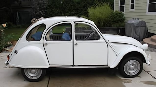 for 6 500 this 1972 citro n 2cv is a blue jean baby queen. Black Bedroom Furniture Sets. Home Design Ideas