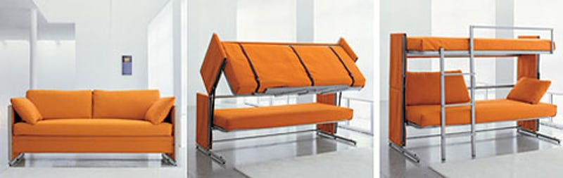 Couch Bunk Bed Transformer transformer sofa magically morphs into bunk bed