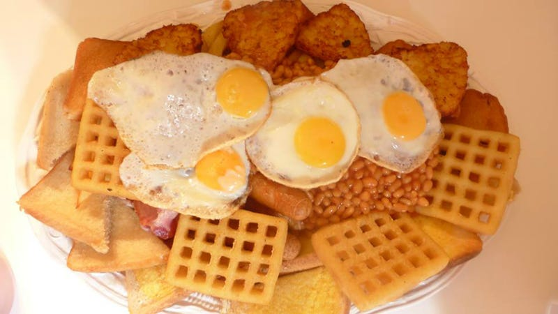 Illustration for article titled This Breakfast Dish Has 8,000 Calories, Will Straight-Up Murder You