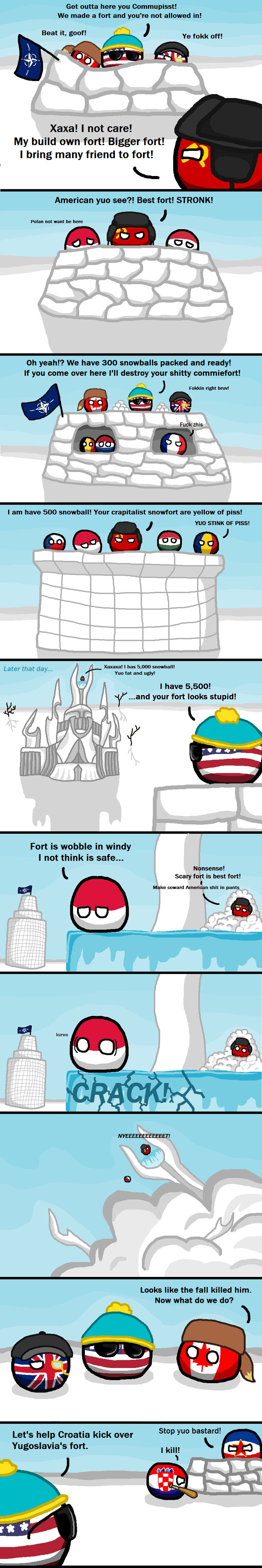 Illustration for article titled Daily Polandball: The Cold War. Again.