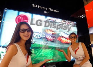 Illustration for article titled LG Shows Off 84-Inch 3DTV With 3,840 x 2,160 Resolution