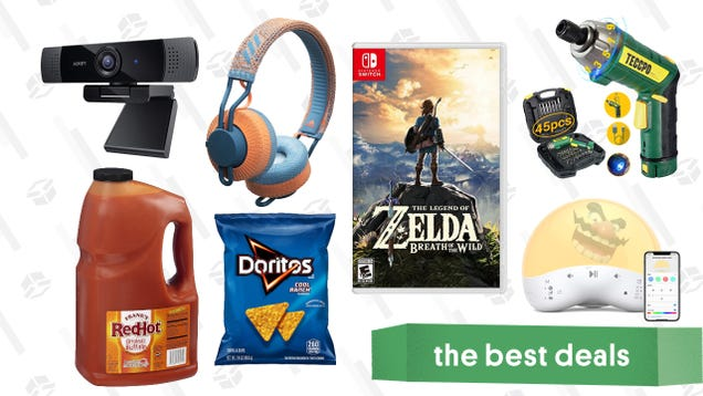 Tuesday s Best Deals: Bulk Snacks and Seasonings, Adidas Headphones, Zelda: Breath of the Wild, Aukey Webcam, TaoTronics Sound Machine/Night Light, TV Deals, and More
