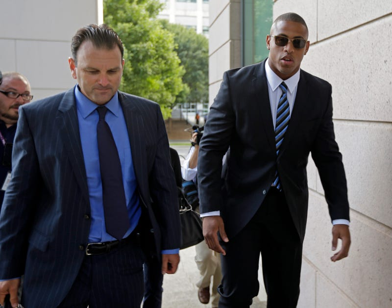 """Illustration for article titled Greg Hardy's Girlfriend Testifies: """"I Was So Scared I Wanted To Die"""""""
