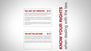 Illustration for article titled Always Know How to Deal with the Police by Keeping These Cards in Your Wallet