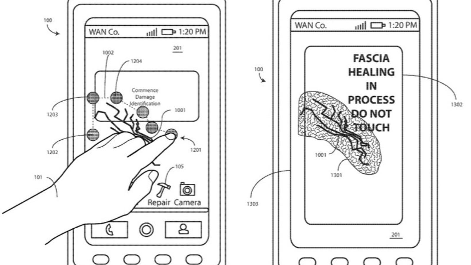 Motorola patenta un sistema para que los smartphones puedan reparar por sí solos sus pantallas rotas