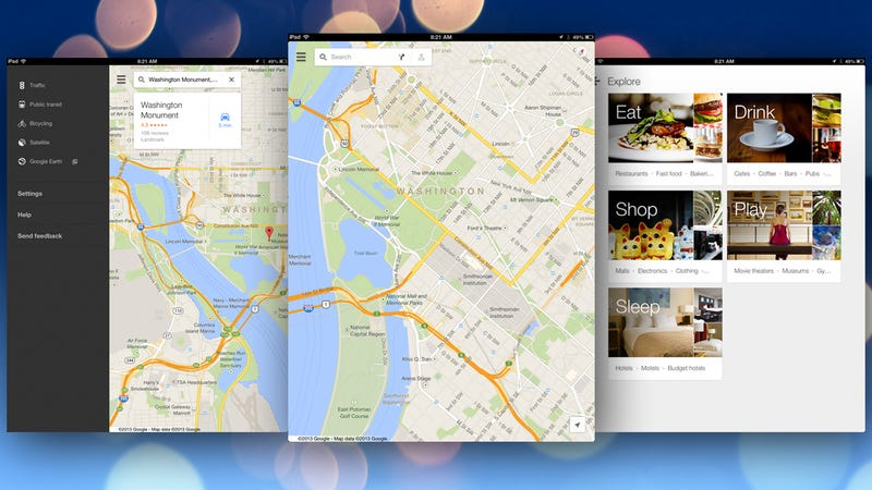 Google Maps for iOS Gets a new Interface, Better Navigation ... on google drive ipad, games ipad, gmail ipad, gold ipad, text to speech ipad, amazon ipad, vimeo ipad, imdb movies ipad, facetime ipad, imovie ipad, fruit ninja ipad, wifi ipad, microsoft ipad, bing maps ipad, maps on ipad, pinterest ipad, phone ipad, android ipad, passbook ipad,