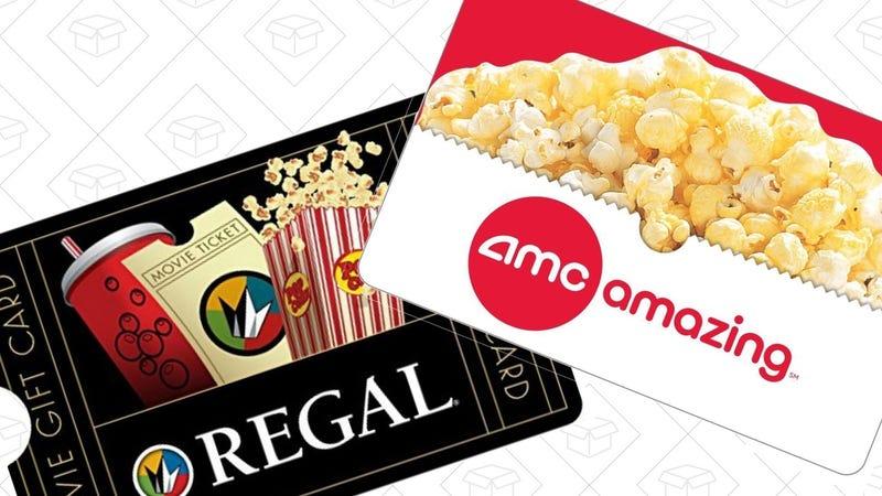 $50 Regal Gift Card + $10 Bonus, $50   $50 AMC Gift Card, $40