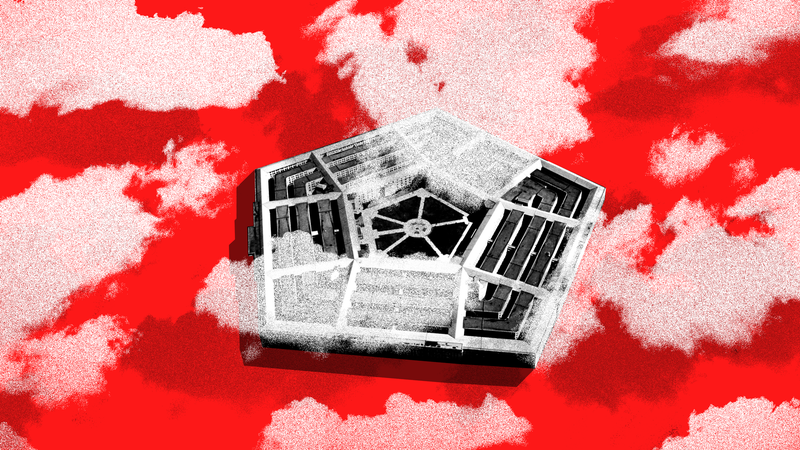 Illustration for article titled The Fight for a Massive Pentagon Cloud Contract Is Heating Up