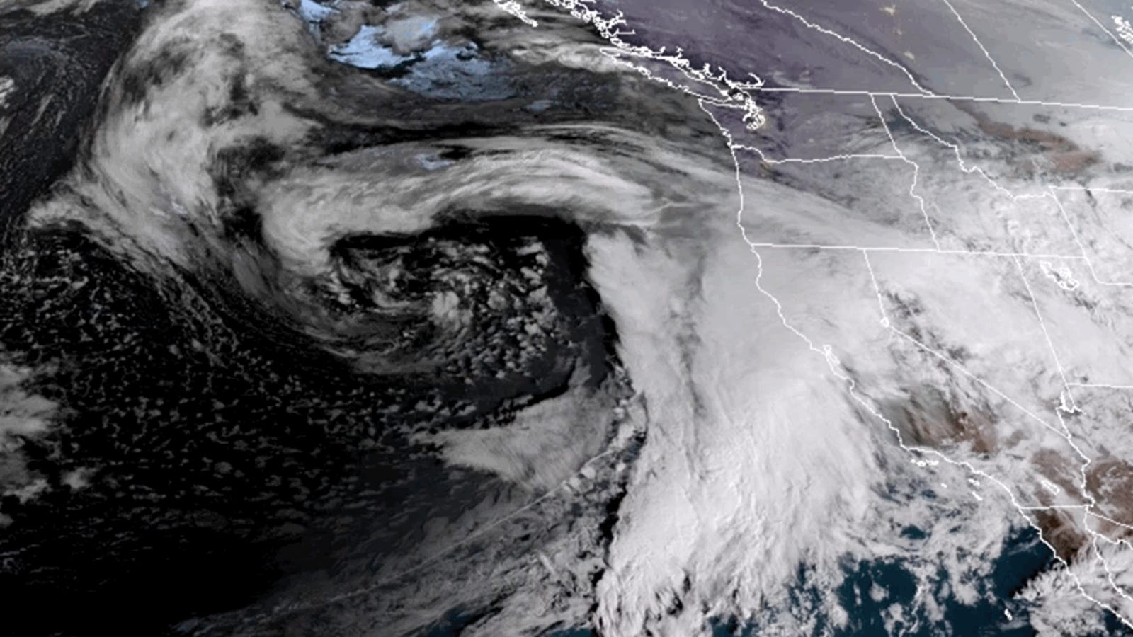 California Is About to Get Pounded With an Atmospheric River, Raising the Risk of Mudslides