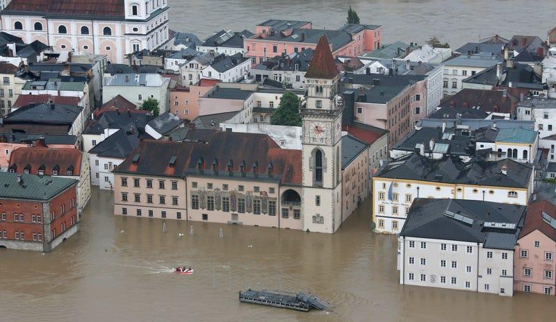 Illustration for article titled Így néz ki az 500 éves rekordot megdöntő árvíz Passauban