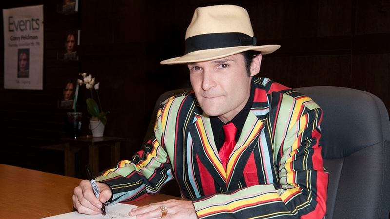 Corey Feldman signs copies of his book in 2013 (Photo: Jennifer Lourie/FilmMagic)