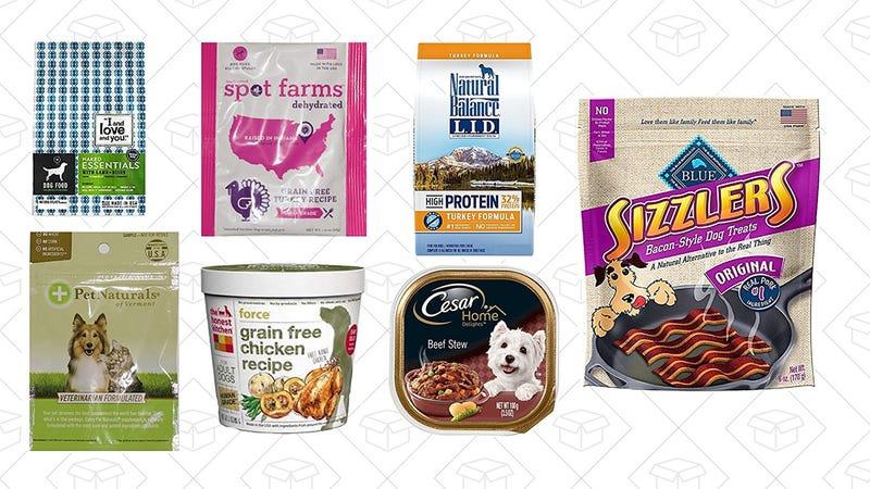 Dog Food and Treats Sample Box, $12 with $12 credit