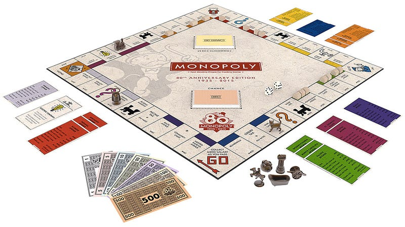 Illustration for article titled 80th Anniversary Monopoly Set Includes Game Tokens From Across the Ages