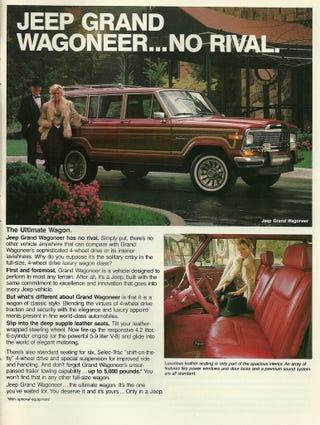 Illustration for article titled Jeep To Resurrect Grand Wagoneer Name