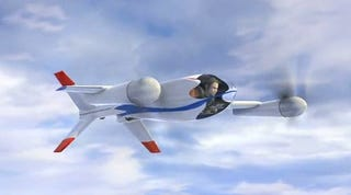 Illustration for article titled NASA's Puffin Is a Stealthy, Personal Tilt-Rotor Aircraft