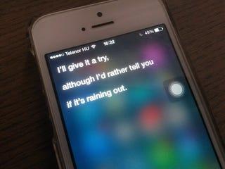 Illustration for article titled Siri csúnyán beolt, ha hülyeséget kérsz tőle