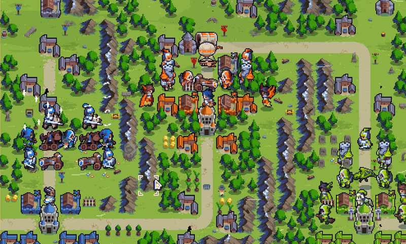 The final battle of Advance Wars recreated in Wargroove by a player using the game's map editor.