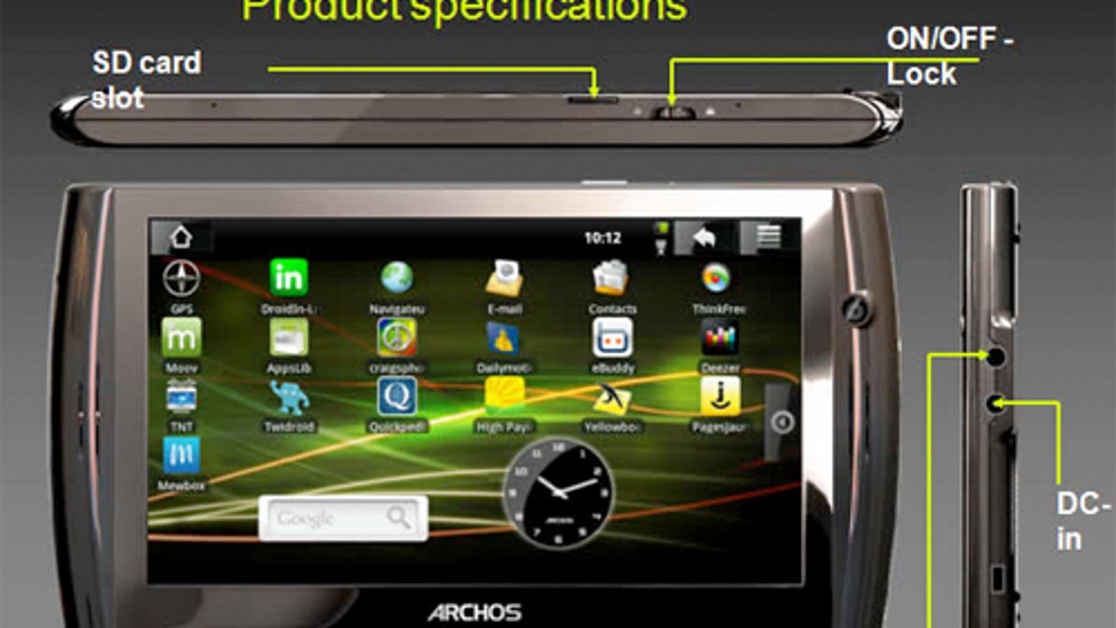 beste groothandel beste verkoop populaire winkels Archos 7 Android Tablet Leaked, Featuring Webcam For Video ...