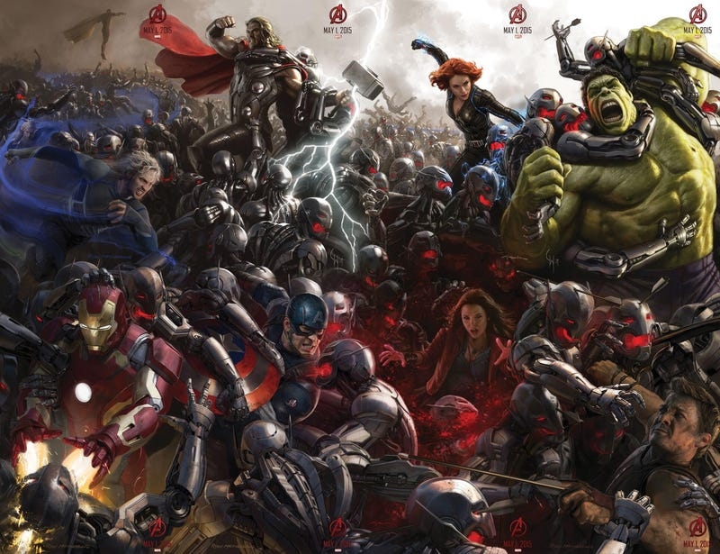 Illustration for article titled Complete Avengers: Age Of Ultron Comic-Con Poster Is Your New Wallpaper