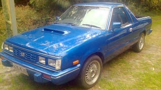 Illustration for article titled Some Crazy Aussie Stuffed A Turbo Rally Car Engine Into This Tiny Subaru BRAT