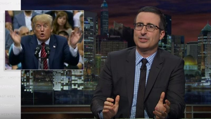Illustration for article titled John Oliver destroyed Donald Trump's border-wall plan (no really, he did)