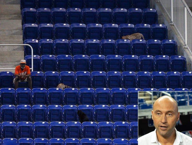 Illustration for article titled Derek Jeter Just Going To Go Ahead And Count Stray Cats In Marlins Attendance Figure