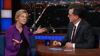Senator Elizabeth Warren, Stephen Colbert