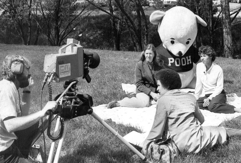 The filming of Teddy Bear Picnic, 1980.