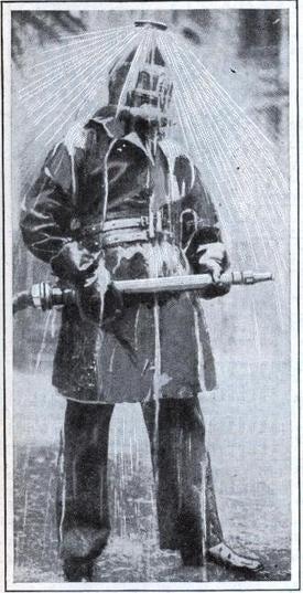 Illustration for article titled Firefighting Sprinkler Suit From 1931