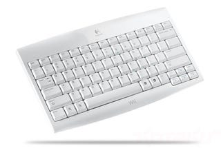 Illustration for article titled Logitech's Official Wireless Keyboard For The Wii Is, Yes, White
