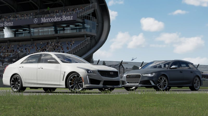 Illustration for article titled Home Cooked vs. Forbidden Fruit - Cadillac CTS-V vs. Audi RS6 Avant - The Oppo/Forza Comparison