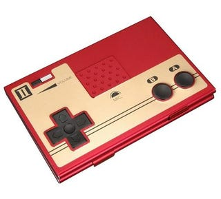 Nes controller business card holder makes me want use business cards all the way back to the 80s with stupid jackets antiquated business cards and this anodized colourmoves