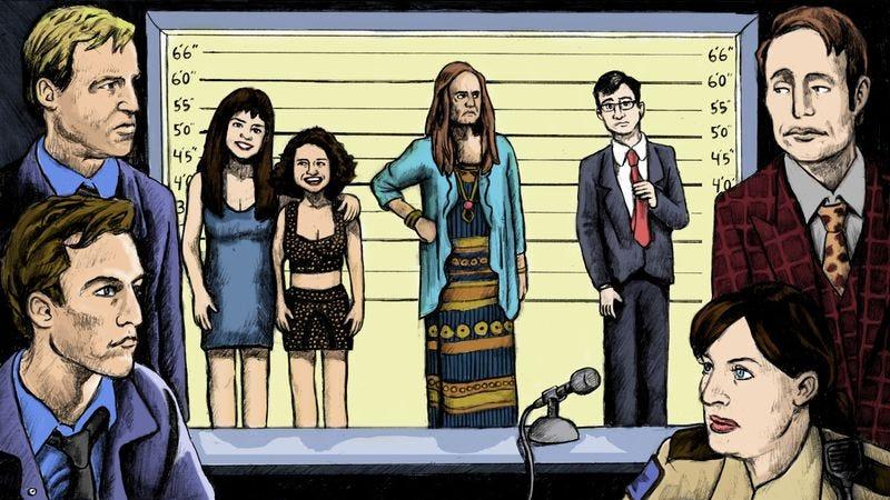 tv shows 2014. illustration: dan henrick tv shows 2014