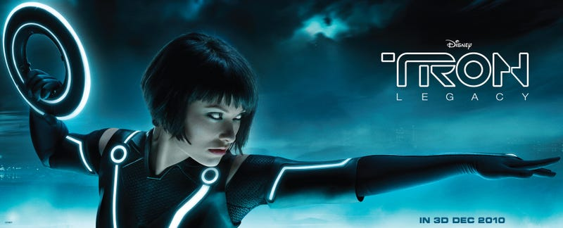 Illustration for article titled Olivia Wilde strikes a pose for justice: the best Tron banner yet!