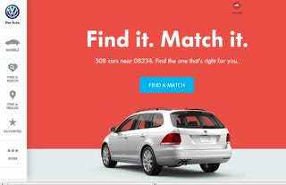 Illustration for article titled VW Launches New Website, Wants to Go On a Date