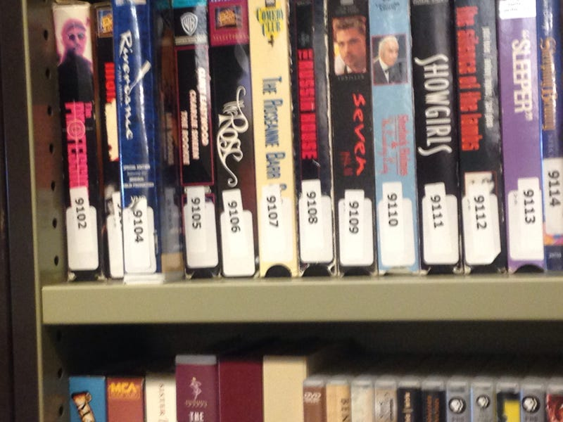 Illustration for article titled Movies available on video cassette at my university library