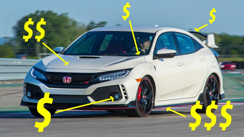 Merveilleux (Image Credits: Honda, With Some Poor Photoshopping). The 2017 Honda Civic  Type R ...