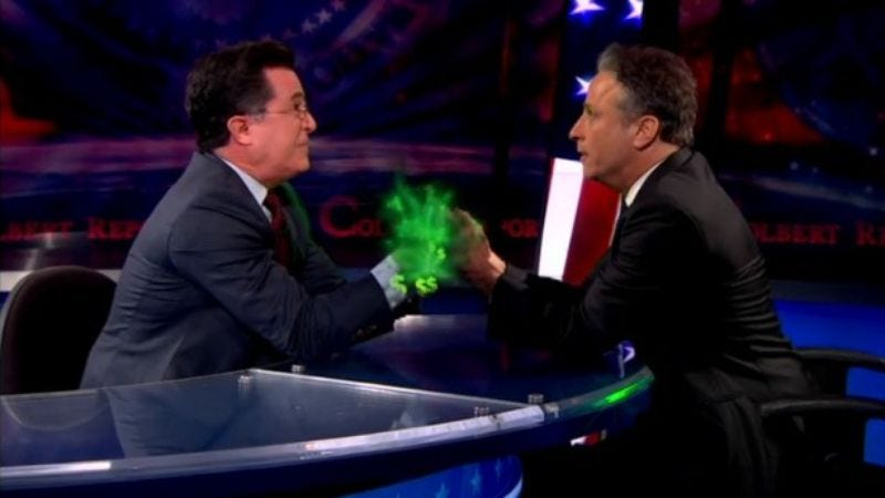 Illustration for article titled Jon Stewart and Stephen Colbert aren't going anywhere for a while