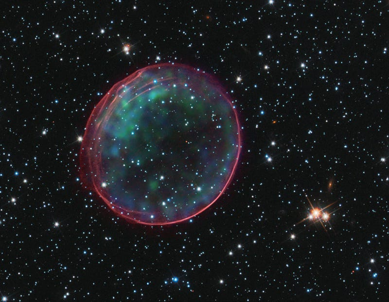 Illustration for article titled This Supernova Remnant Is a Festive Holiday Bauble