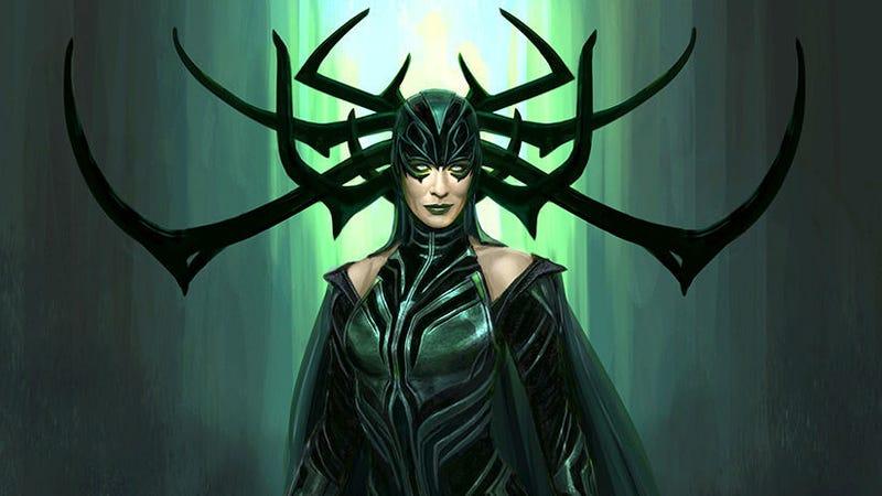 A design of Hela in Thor Ragnarok by Marvel Studios' Andy Park